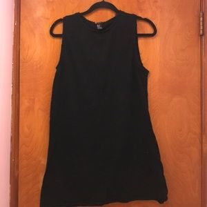 Black distressed tee shirt dress from Forever 21